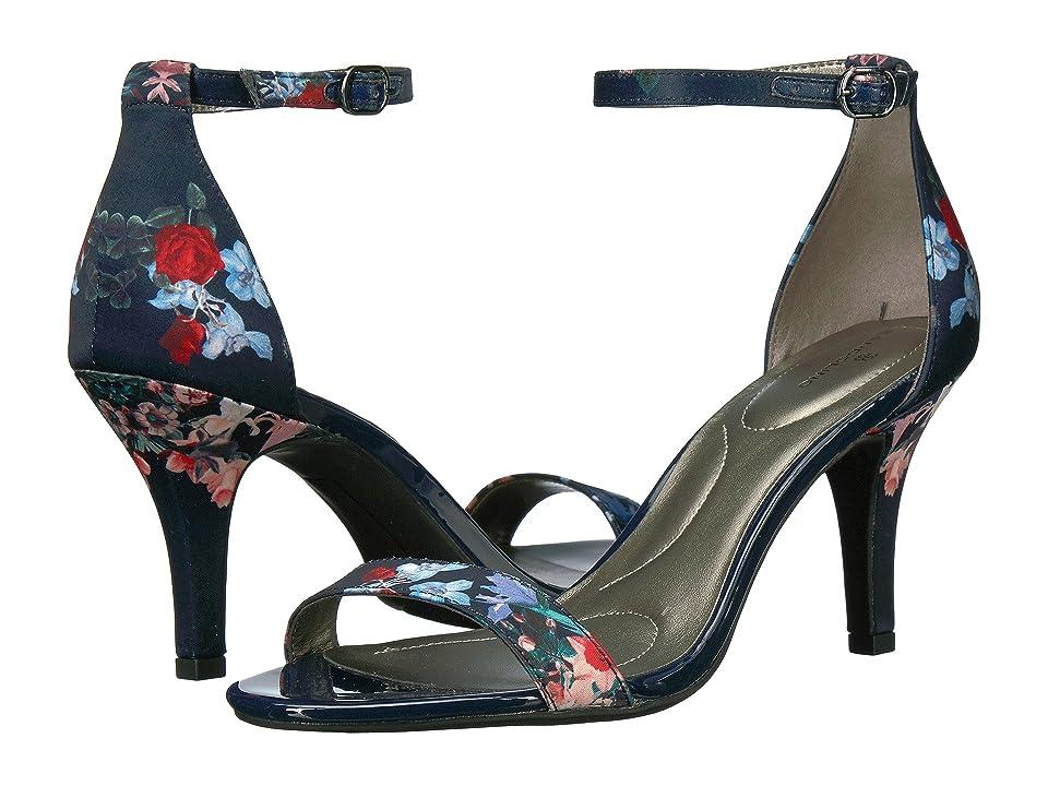 Bandolino Madia (Navy Multi Dark Floral Matte Satin) High Heels