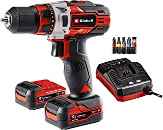 Einhell 4513594 Cordless Drill TE-CD 12/1 Li (Lithium-ion Technology With No Self-Discharge, 30 Nm, 2-Speed Gearing, 10 mm...