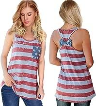 Womens Patriotic American Flag Print Summer Sexy Sleeveless T-Shirts Tank Top