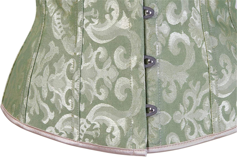 Corset for Women Vintage Underbust Corset Plus Size Bustier Waist Cincher Top