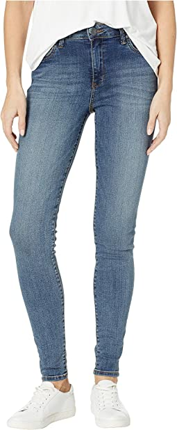 Mia High-Waisted Skinny Jeans in Interfere/Medium Base Wash