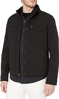 Men's Soft Shell Stand Collar Commuter Trucker Jacket