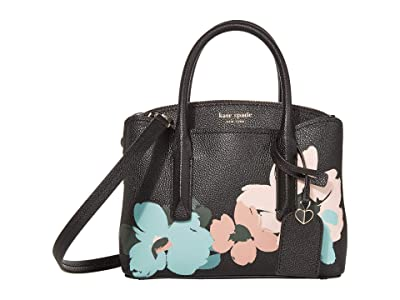 Kate Spade New York Margaux Brush Bloom Mini Satchel (Multi) Bags