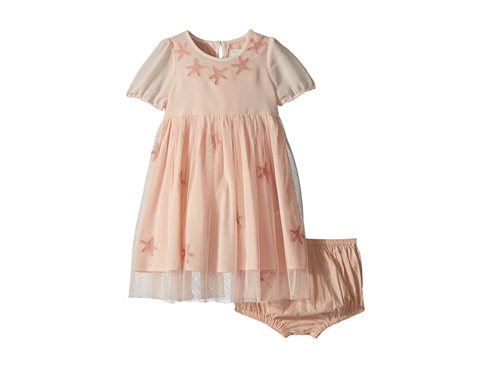 Stella McCartney Kids Maria Star Patched Tulle Dress (Infant) (Pink) Girl