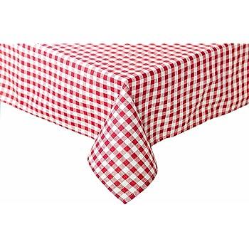 40x40 Farbe rot-wei/ß Textildepot24 Tischw/äsche mit 2 cm Karo aus Baumwolle