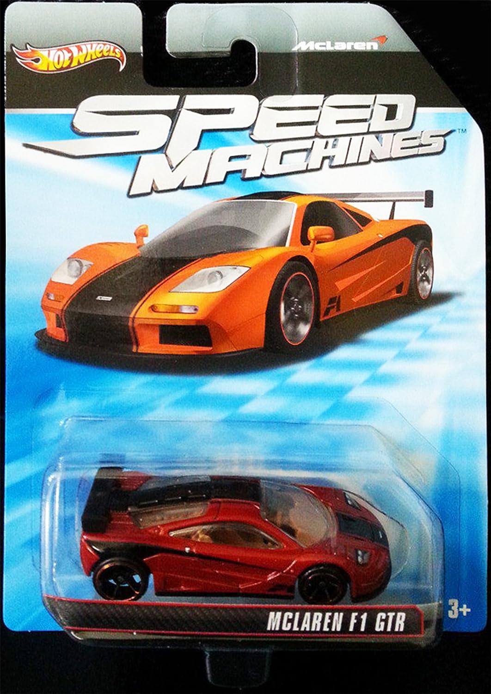 McLAREN F1 GTR Hot Wheels Speed San Jose Mall Outlet sale feature Dark Black Series Red Machines