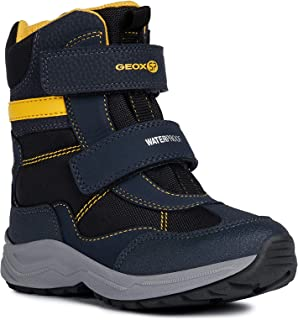 Geox Boys' New Alaska 2 Waterproof T Boot Straps, Yello