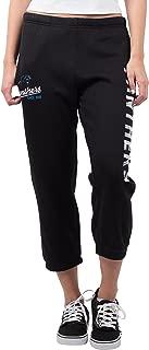 Ultra Game NFL Women's Jogger Pants Capri Cropped Fleece Sweatpants