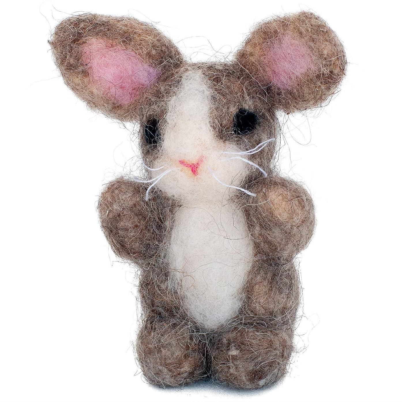 Dimensions Bunny Felt Animals Needle Felting Kit, 3'' x 4''