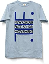 Impact New Order fact. 50 1981 Fitted Jersey Tshirt-Light Blue-X-Large