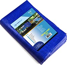 5' X 7' Blue Multi-purpose 6ml Waterproof Poly Tarp Cover with Tent Shelter Camping Tarpaulin By Prime Tarps