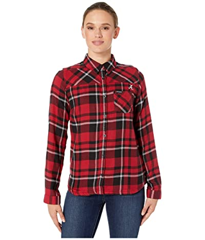 Columbia College Alabama Crimson Tide Flare Guntm Shirt (Red Velvet) Women