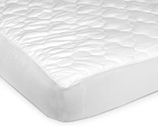 Carter's Keep Me Dry Fitted Quilted 4-Ply Crib Pad, White (Discontinued by Manufacturer)