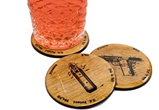 Browning M1911 Patent Coasters - Set of 4 3.5