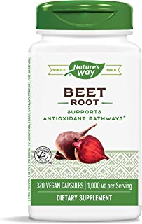 Nature's Way Beet Root, 1000 mg per serving, TRU-ID Certified, 320 Capsules