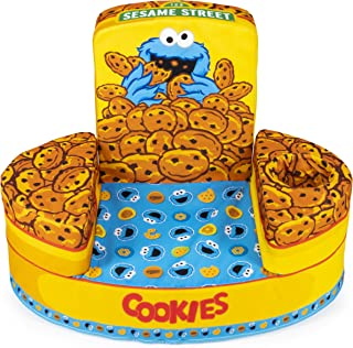 Marshmallow Furniture, Children's Transforming Flip-See-Do Cookie Monster Foam Chair, by Spin Master