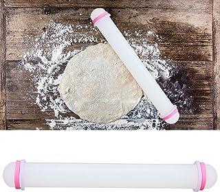 Semiter Rouleau à pâtisserie, Rouleau à pâtisserie antiadhésif en Terre Cuite de qualité Alimentaire avec Nouveau PP de qu...