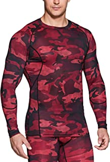 TSLA Men's Cool Dry Fit Long Sleeve Compression Shirts, Athletic Workout Shirt, Sports Base Layer T-Shirt