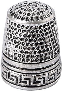 10Pcs Silver Finger Thimble Sewing Grip Fingertip Protector Metal Shield Pin Needles Partner for DIY Crafts Tools Needlework