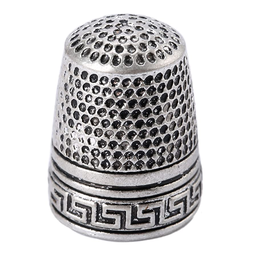 1Pc Silver Finger Thimble Sewing Grip Fingertip Protector Metal Shield Pin Needles Partner for DIY Crafts Tools Needlework