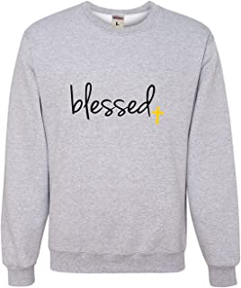 Go All Out Adult Blessed Christian Humble Sweatshirt Crewneck