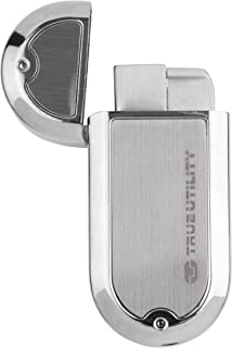 True Utility TU61C FireWire Oval Lighter with Windproof Flame, Chrome