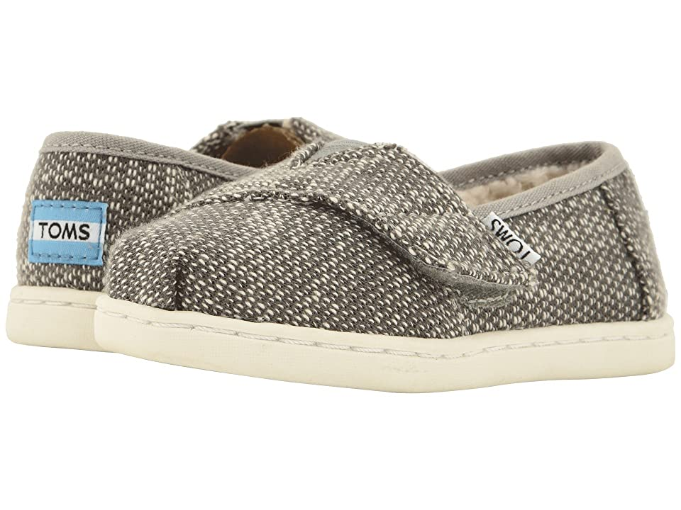 TOMS Kids Alpargata (Infant/Toddler/Little Kid) (Shade Oblique Woven/Faux Shearling) Kid