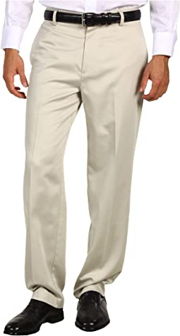Never-Iron™ Essential Khaki D3 Classic Fit Flat Front Pant