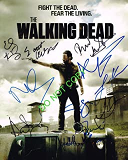 The Walking Dead cast 8x10 cast reprint signed photo by 11 Lincoln + #3