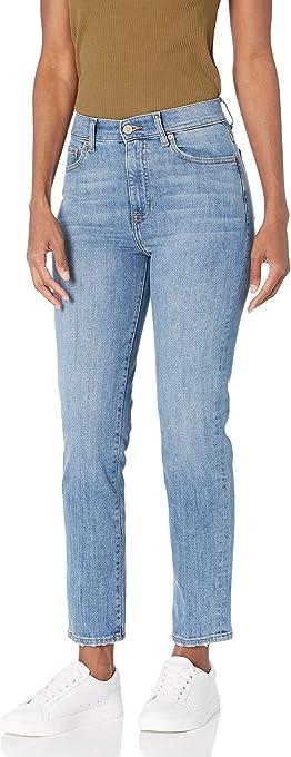 Marchio Amazon - Miranda, Jeans a Vita Alta, Taglio Dritto, alla Caviglia Donna di The Drop