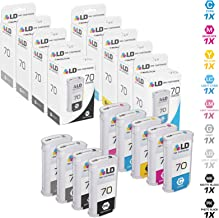 LD Remanufactured Ink Cartridge Replacement for HP 70 (Matte Black, Photo Black, Gray, Light Gray, Cyan, Magenta, Yellow, Light Cyan, Light Magenta, 9-Pack)
