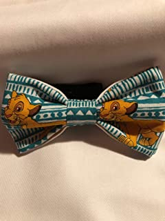 Lion King Young Simba youth, teen, toddler sized, cotton pre-tied bow tie with black cotton twill strap.
