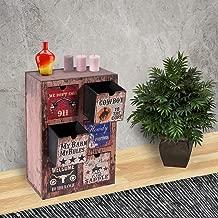 Vogue GF-L360 Cabinet with Drawer, Multi Color - H 55 cm x W 22 cm x D 37 cm