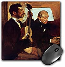 3dRose BLN Music Featured in Fine Art Collection – Degas Father Listening to Lorenzo Pagans Playing the Guitar, Degas – MousePad (mp_173830_1)