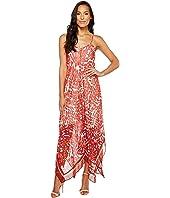 Taylor - Fern Print Hanky Hem Midi Slip Dress