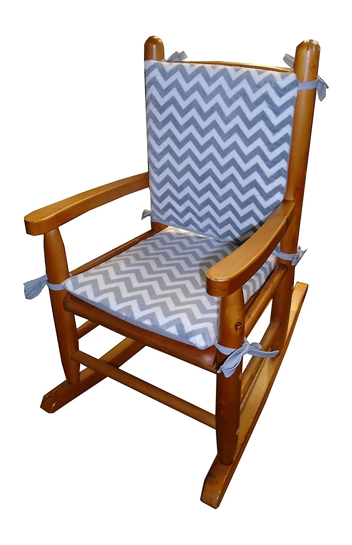 Baby Doll Bedding Minky Chevron Pad Grey Over item handling ☆ Many popular brands Rocking Chair Junior