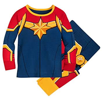 Amazon Com Marvel S Captain Marvel Costume Pj Pals For Baby Size 3 6 Mo Multi Baby Carol danvers has worn several costumes over the years as both ms. captain marvel costume pj pals for baby