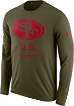 Nike Men's Olive San Francisco 49ers Salute to Service Sideline Legend Performance Long Sleeve T-Shirt