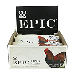 Epic All Natural Meat Bar, Chicken, Sriracha, Low-Carb, 1.5 oz. (12 Count)
