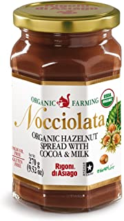 Rigoni di Asiago Nocciolata Organic Spread, Hazelnut with Cocoa and Milk, 6 Count