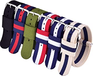 Ritche 6PC 20mm NATO Strap Nylon Watch Band Compatible with Timex Weekender Watch for Men Women
