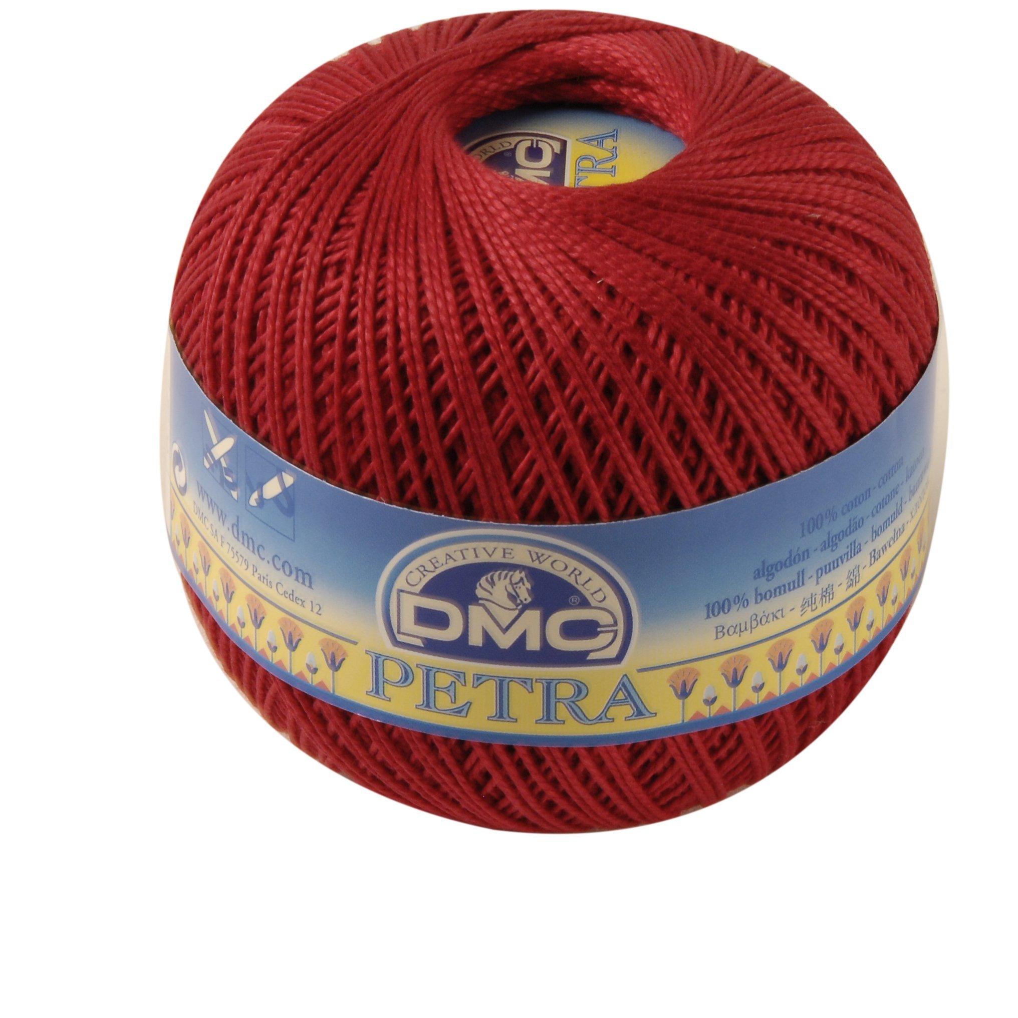 DMC Petra de Hilo, 100% algodón, Rojo, tamaño 5: Amazon.es: Hogar
