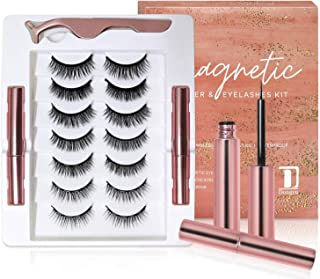 Dongyu Magnetic Eyelashes and Magnetic Eyeliner Kit, 7 Pairs 3D and 5D different Lengths & Densities Magnetic Eyelashes, 2...