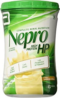 Abbott Nepro HP Powder Vanilla - Carb Steady Nutrition High Energy Feed - Vanilla (400 gms) For Renal Impairment & Dialysis Patients