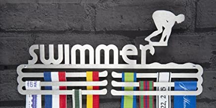 Runners Wall Mannelijke zwemmer medaille hanger Display