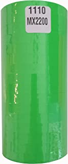 1110 Fluorescent Green Labels for Monarch 1110 or Motex MX-2200