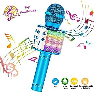 ShinePick Bluetooth Karaoke Microphone, 4 in 1 Wireless Microphone Handheld Portable..
