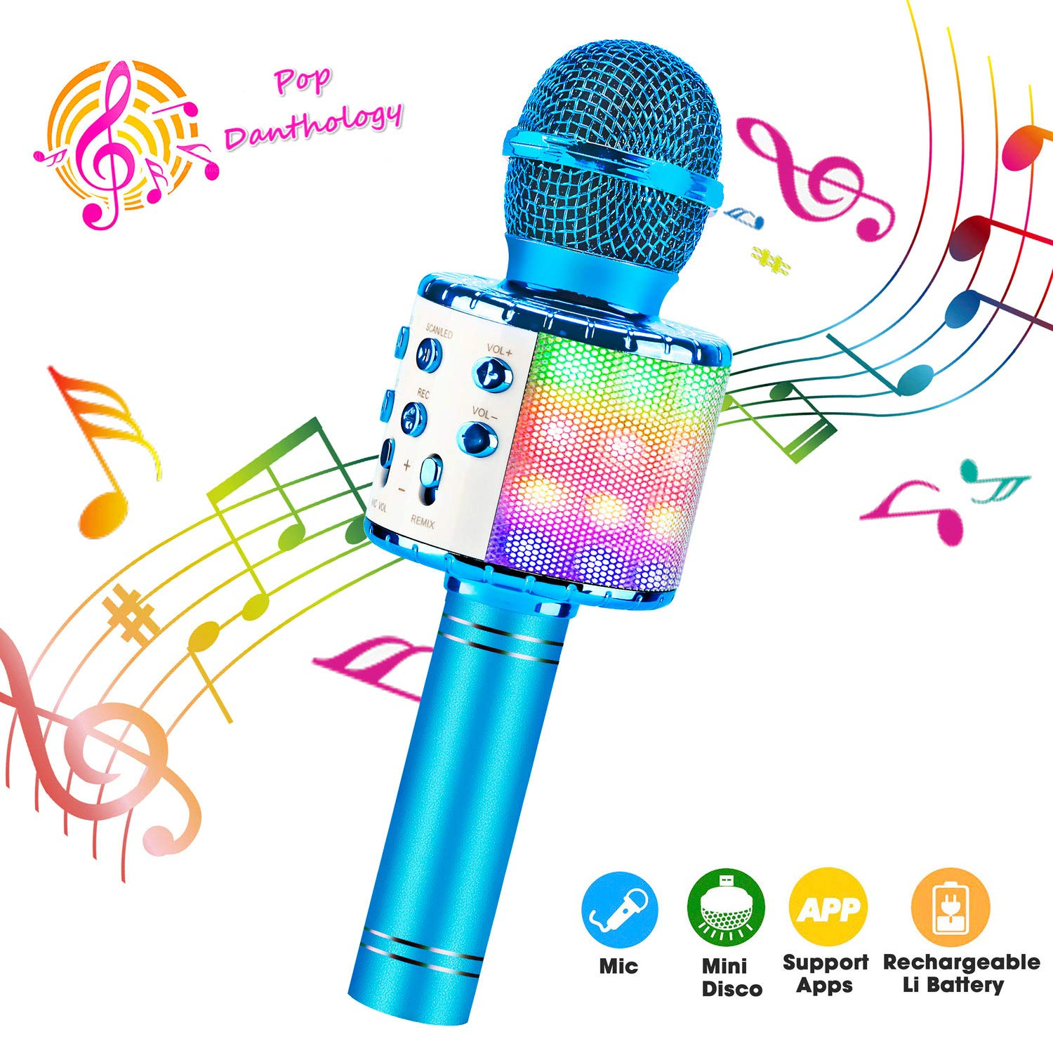 ShinePick Bluetooth Microphone Wireless Compatible