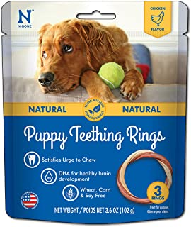 N-Bone 3-Rings Puppy Teething Ring, Chicken Flavor