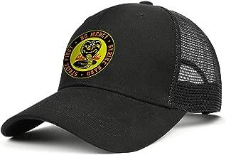 SHTHYTS Men's Cobra-Kai-Snake-Logo-No-Mercy-Emblem-Adjustable Snapback Hats Breathable Running Trucker Dad Baseball Cap
